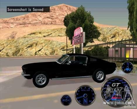 Ford Mustang Fastback pour GTA San Andreas laissé vue
