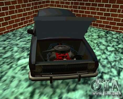 GAZ 24 v3 pour GTA San Andreas vue intérieure