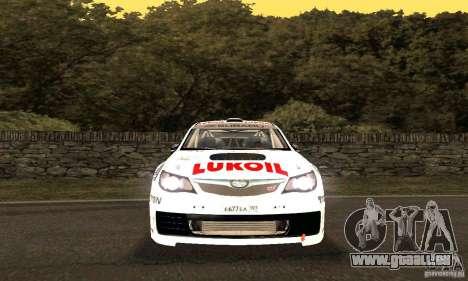 Subaru Impreza WRX STi Russia Rally pour GTA San Andreas vue de dessus