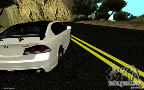 Honda Civic Type R pour GTA San Andreas laissé vue