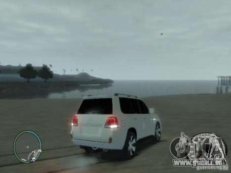 Toyota Land Cruiser 200 FINAL pour GTA 4 est une vue de l'intérieur