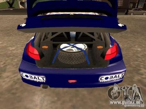 Peugeot 206 WRC von Richard Burns Rally für GTA San Andreas Rückansicht