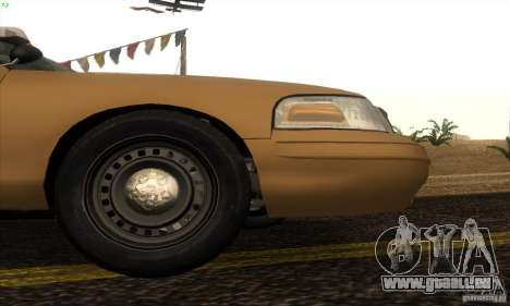Ford Crown Victoria Kansas Police für GTA San Andreas zurück linke Ansicht