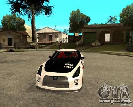 Nissan Skyline R35 für GTA San Andreas Rückansicht