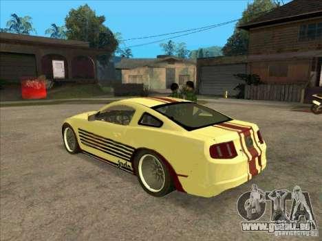 Ford Mustang Jade from NFS WM für GTA San Andreas zurück linke Ansicht