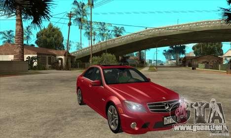 Mercedes-Benz C63 AMG 2010 pour GTA San Andreas moteur