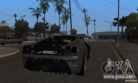 Ferrari 430 Scuderia Novitec für GTA San Andreas rechten Ansicht