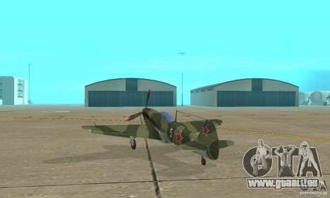 Jak-9 during WORLD WAR II für GTA San Andreas zurück linke Ansicht