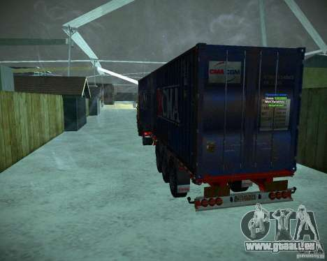 Container pour GTA San Andreas sur la vue arrière gauche