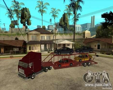 Auflieger-LKW für GTA San Andreas Rückansicht