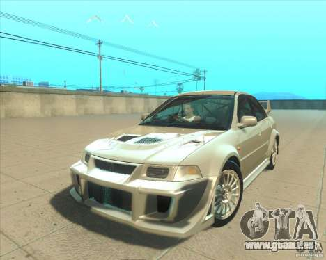 Mitsubishi Lancer Evolution VI 1999 Tunable für GTA San Andreas Innen