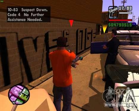 Chassant les machines pour GTA San Andreas cinquième écran