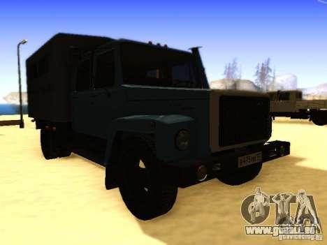 GAZ 3309 zweireihige für GTA San Andreas rechten Ansicht