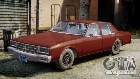 Chevrolet Impala 1983 v2.0 pour GTA 4 est une vue de l'intérieur