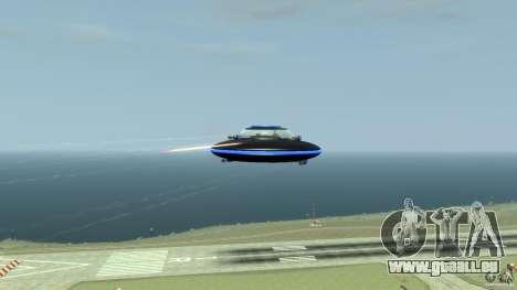 UFO neon ufo blue für GTA 4 Rückansicht