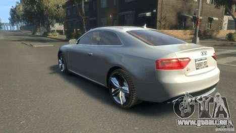 Audi S5 1.1 pour GTA 4 est une gauche