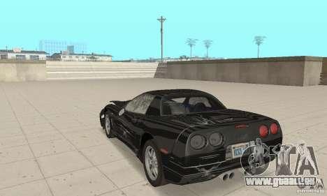 Chevrolet Corvette 5 pour GTA San Andreas vue de dessus