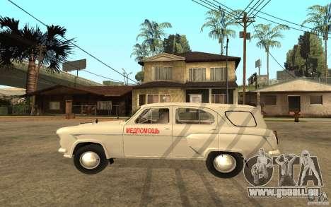 Moskvitch 423 m Ambulance pour GTA San Andreas laissé vue