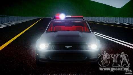 Ford Mustang V6 2010 Police v1.0 für GTA 4-Motor