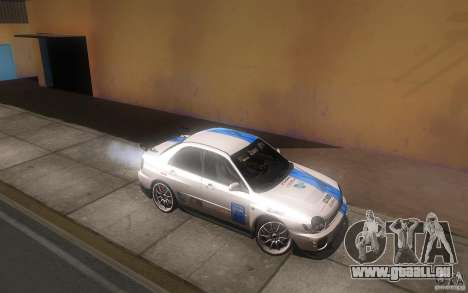 Subaru Impreza WRX STi pour GTA San Andreas vue de dessus