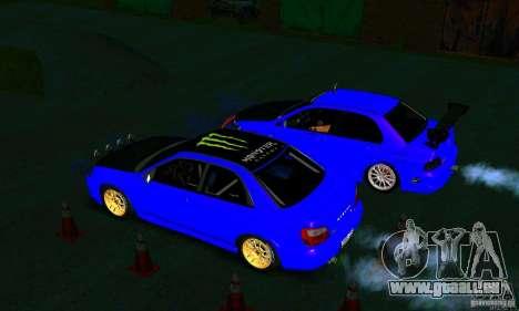 Subaru Impreza WRX Rally pour GTA San Andreas vue intérieure