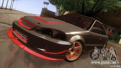 Honda Civic SI pour GTA San Andreas vue de côté