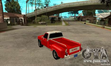 GMC 454 PICKUP für GTA San Andreas zurück linke Ansicht