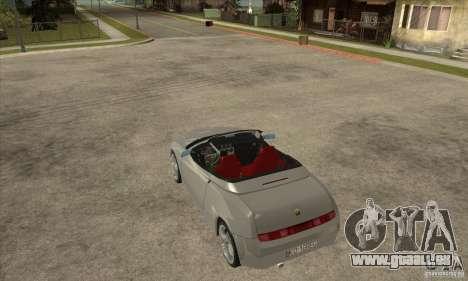 Alfa Romeo Spyder für GTA San Andreas zurück linke Ansicht