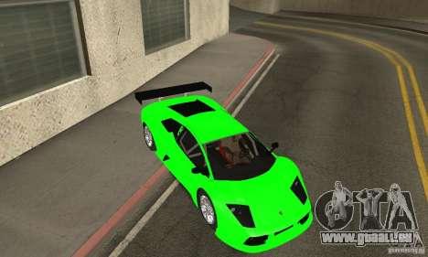 Lamborghini Murcielago R GT pour GTA San Andreas vue de dessous