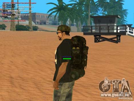 Military backpack pour GTA San Andreas