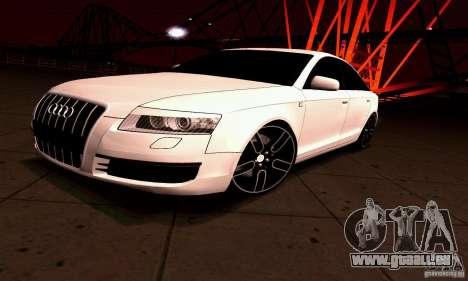 Audi A6 Blackstar für GTA San Andreas zurück linke Ansicht