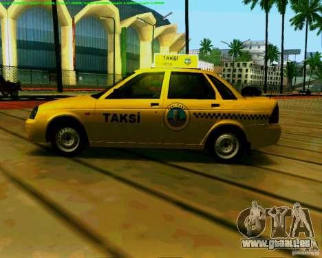 2170 LADA Priora Baki taksi pour GTA San Andreas sur la vue arrière gauche