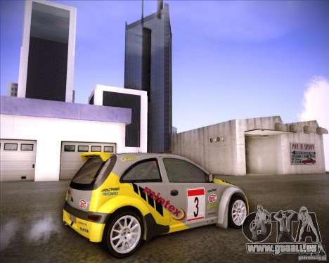 Opel Corsa Super 1600 für GTA San Andreas Seitenansicht