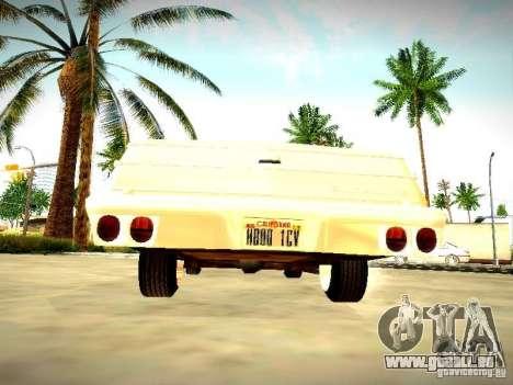 Chevrolet El Camino 1976 pour GTA San Andreas vue de droite