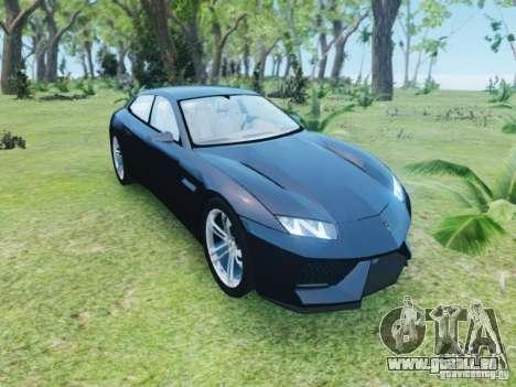 Lamborghini Estoque pour GTA 4 Vue arrière