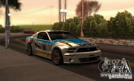Ford Mustang GT-R pour GTA San Andreas vue de dessus