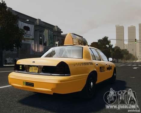 Ford Crown Victoria NYC Taxi 2012 pour GTA 4 Vue arrière de la gauche