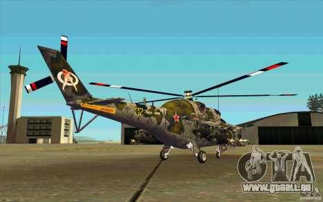 Mil Mi-24 für GTA San Andreas rechten Ansicht