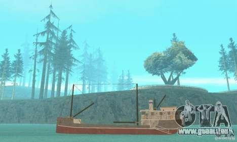 Steam Freighter pour GTA San Andreas sur la vue arrière gauche