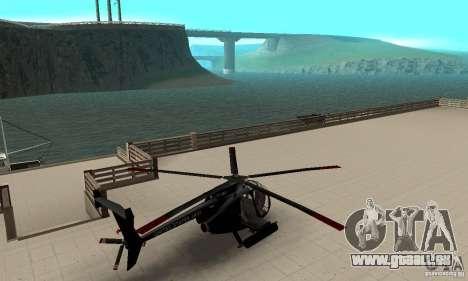 AH-6C Little Bird pour GTA San Andreas sur la vue arrière gauche