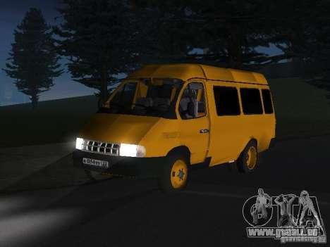 Taxi de la Gazelle pour GTA San Andreas laissé vue