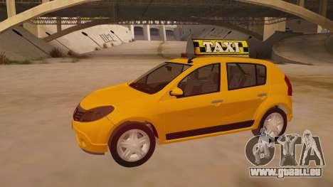 Renault Sandero Taxi pour GTA San Andreas vue intérieure