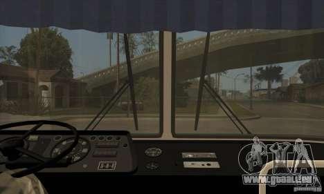 LAZ 699R (98-02) pour GTA San Andreas vue intérieure