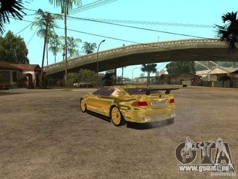 BMW M3 Goldfinger pour GTA San Andreas laissé vue