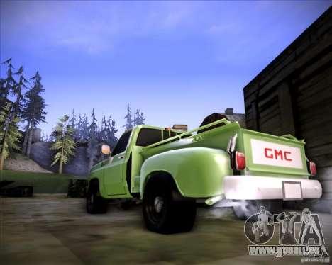 GMC 80 pour GTA San Andreas sur la vue arrière gauche