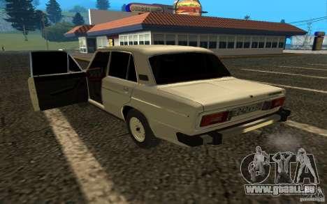 VAZ 2106 v. 2 für GTA San Andreas zurück linke Ansicht