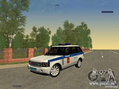 Range Rover Supercharged 2008 Police DEPARTMENT für GTA San Andreas Seitenansicht