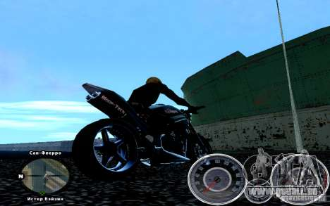 Script Chevrolet Camaro Spedometr pour GTA San Andreas deuxième écran