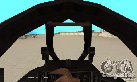 F14W Super Weirdest Tomcat Skin 1 pour GTA San Andreas vue arrière