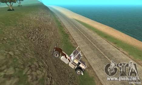 Peterbilt 289 für GTA San Andreas Rückansicht